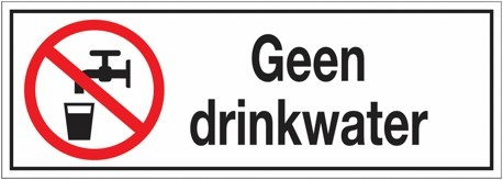 pictogram geen drinkwater
